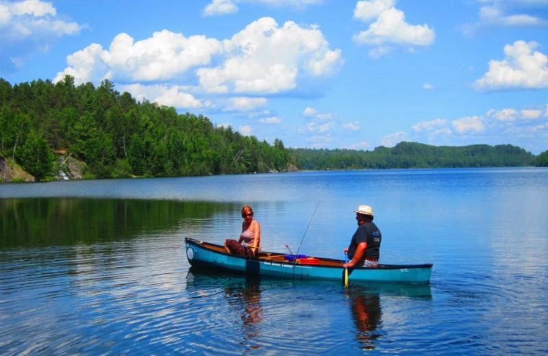 Canoeing at Lady Bug Lodge