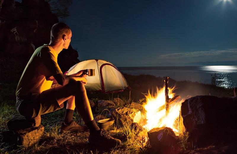 Camping at Meeks Bay Resort.