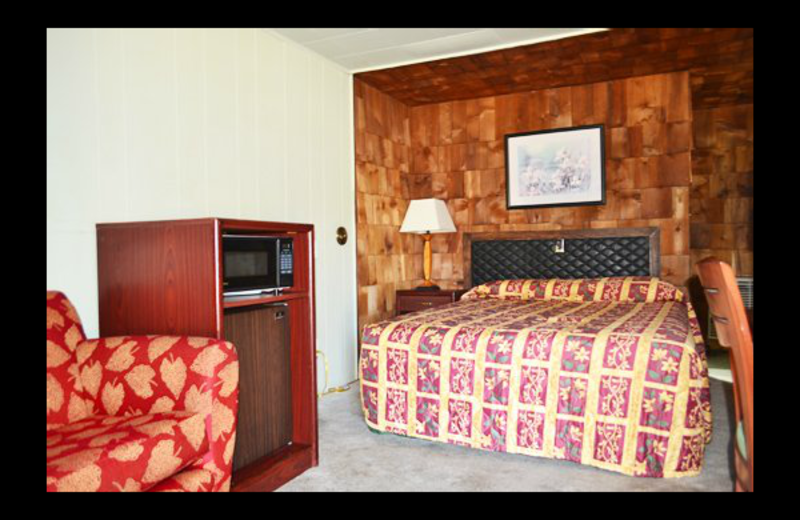 Guest room at Bagby's Town Motel.