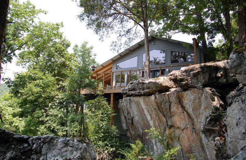 Cabin exterior at Beaver Lakefront Cabins.