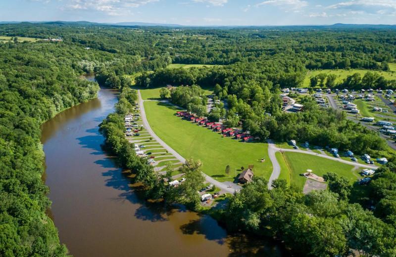 Aerial view of Yogi Bear's Jellystone Park™ Camp-Resort in Gardiner, NY.