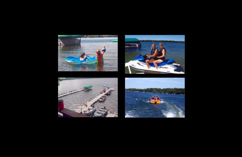 Lake activities at Shady Lawn Resort.