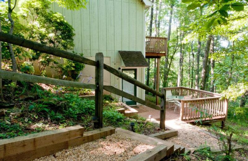 Pathway at Mountain Top Lodge at Dahlonega.