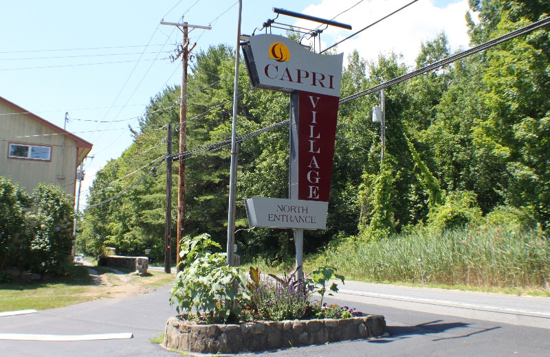 Entrance to Capri Village Resort.