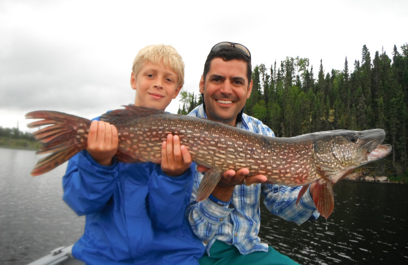 Fishing at Maynard Lake Lodge and Outpost.