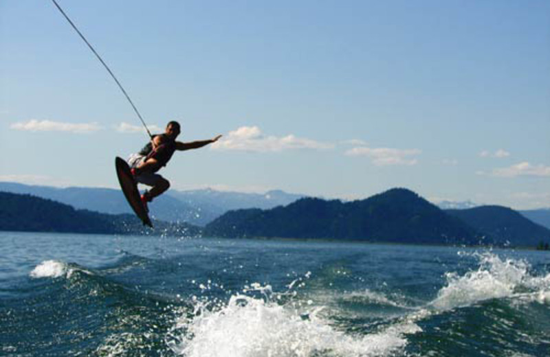 Wake boarding at The Lodge at Sandpoint.