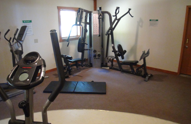 Fitness center at Acorn Hill Resort.