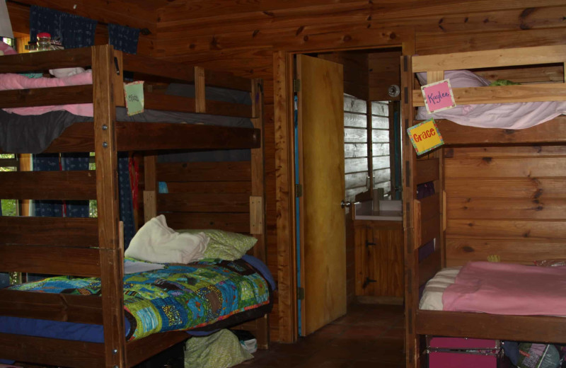Camp bunk beds at Camp Balcones Spring.