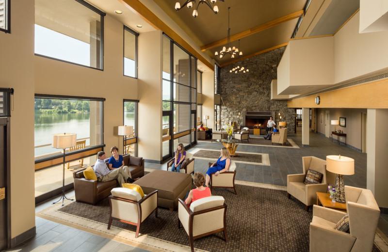 Lobby at The Terrace at Lake Junaluska.