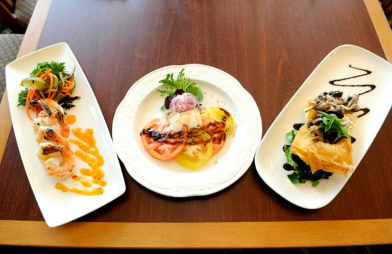 Cuisine at Rocky Crest Golf Resort.