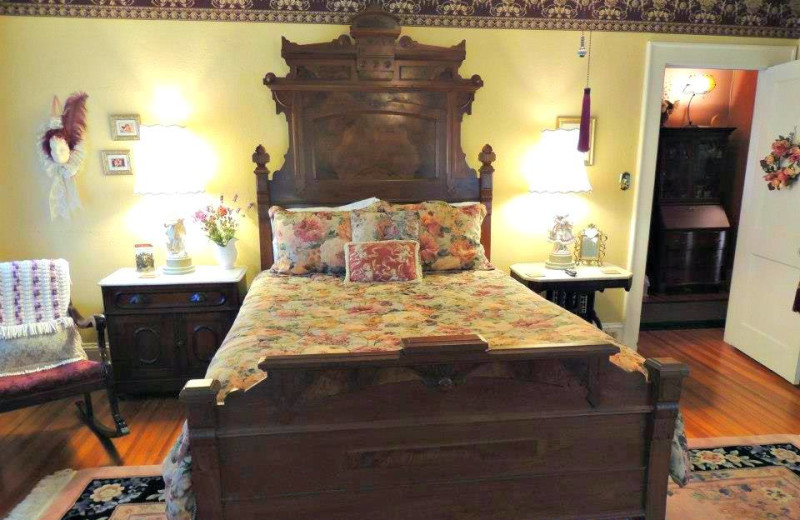 The Rose Room at Magnolia Inn Bed & Breakfast.