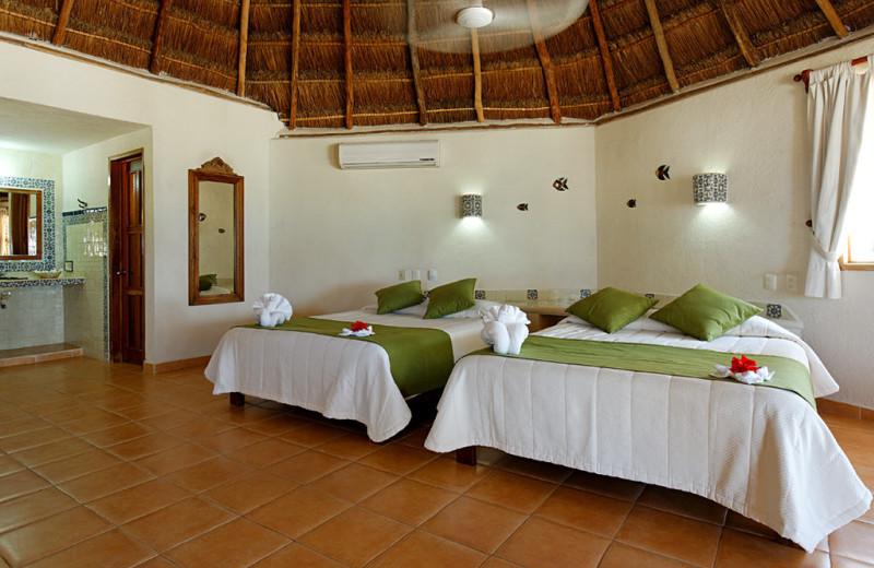 Guest room at Mahekal Beach Resort.