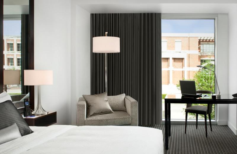 Guest room at Hotel Lumen - a Kimpton Hotel.