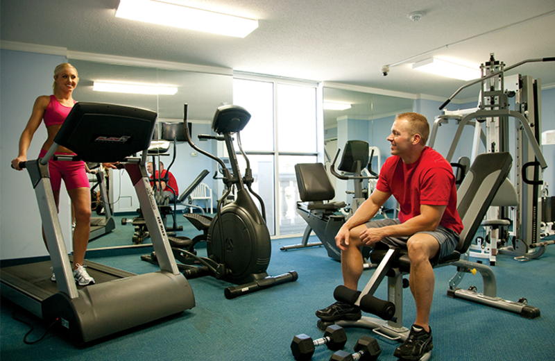 Fitness room at Paradise Resort.