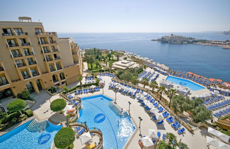Outdoor pool at Corinthia Marina Hotel.
