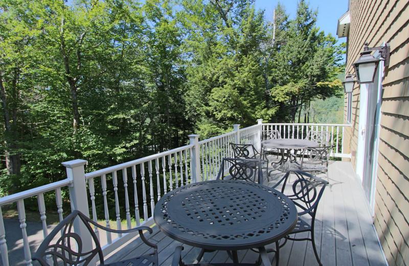 Balcony view at Attitash Mountain Village Resort.