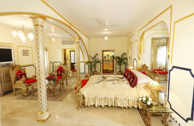 Guest suite at Raj Palace.