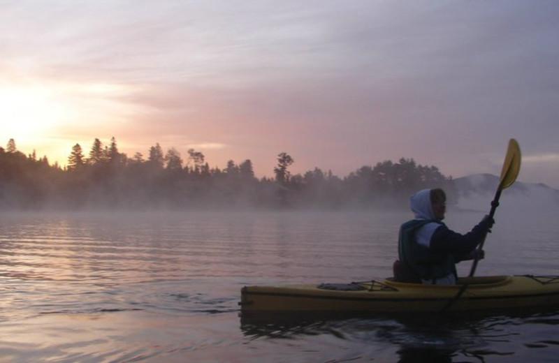 Kayaking at Cabins at Lopstick.