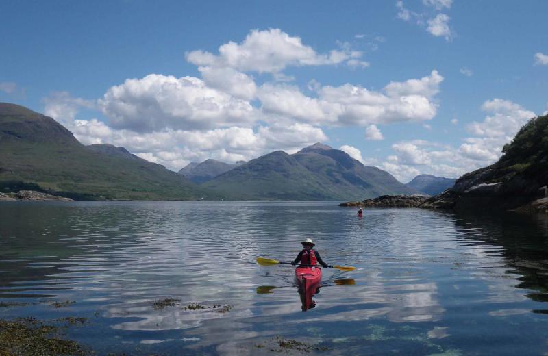 Kayaking at Loch Torridon Country House Hotel.