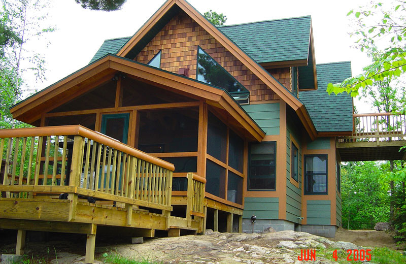 Cabin exterior at Northern Lights Resort & Outfitting.