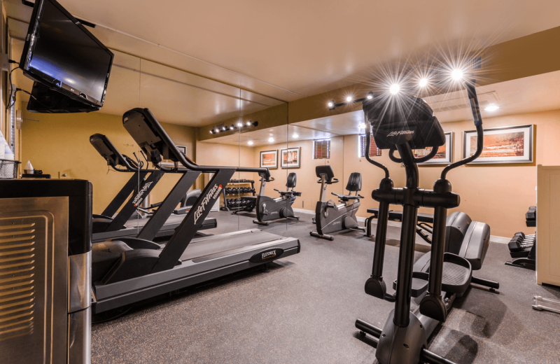 Fitness room at Best Western Plus King's Inn & Suites.
