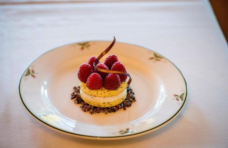 Dessert at Alpenhof Lodge.