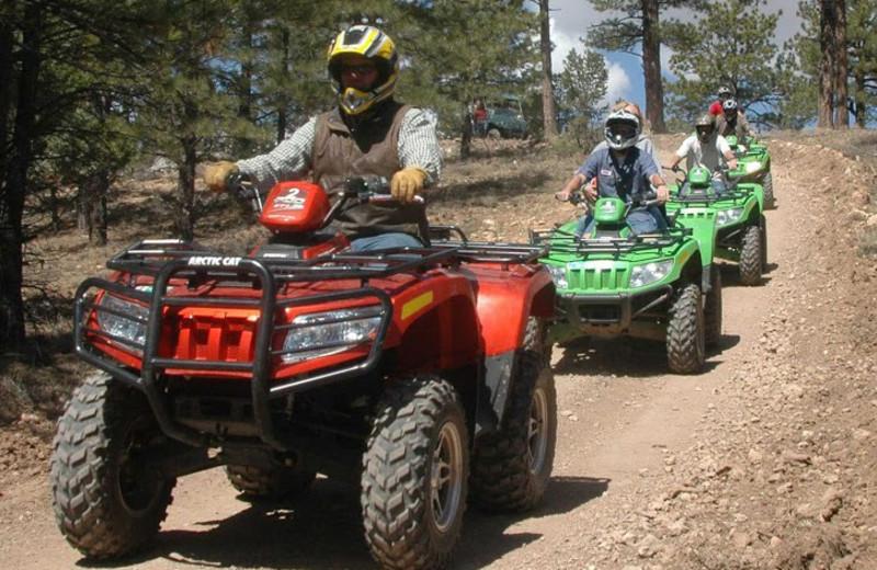 4 wheel ATV at Bryce View Lodge.