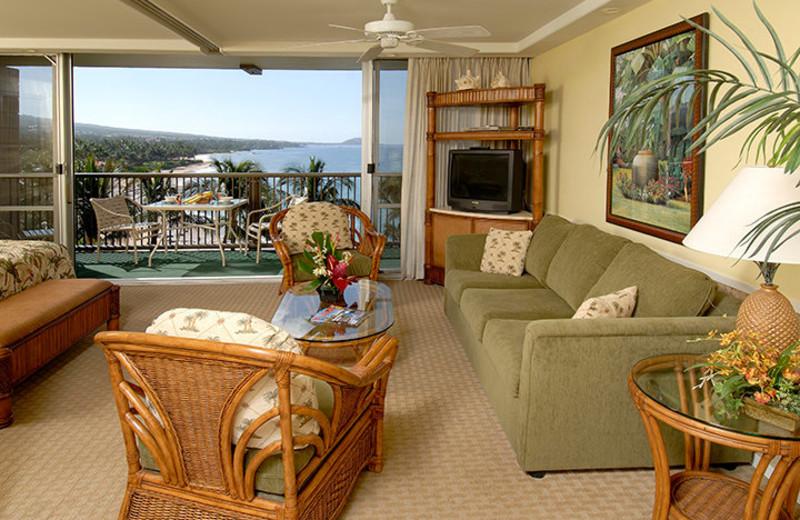 Vacation rental living room at Mana Kai Maui.