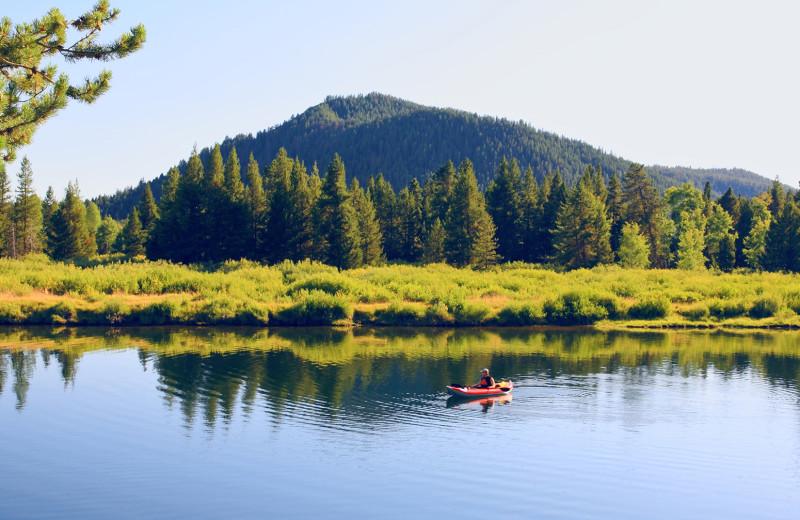 Kayaking at Jackson Hole Lodge.