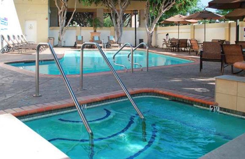 Outdoor pool at DoubleTree by Hilton Hotel Los Angeles - Norwalk.