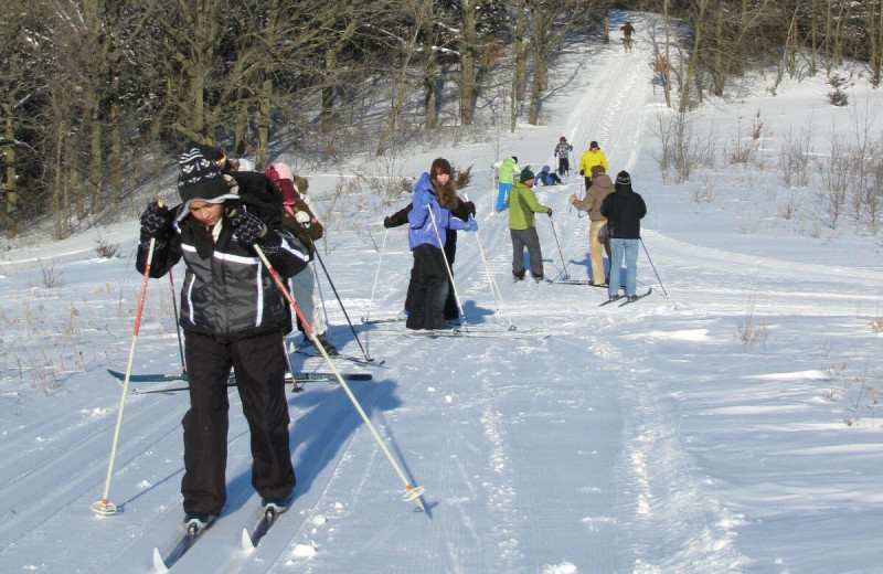 Cross country skiing at Spicer Green Lake Resort.