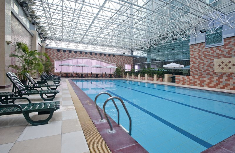 Indoor pool at Holiday Inn Pudong Shanghai.