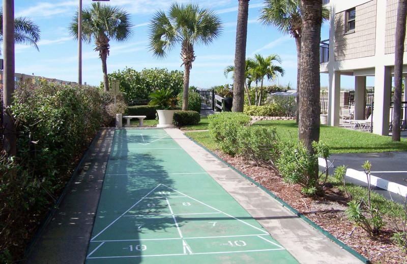 Shuffle board at Gulf Strand Resort.