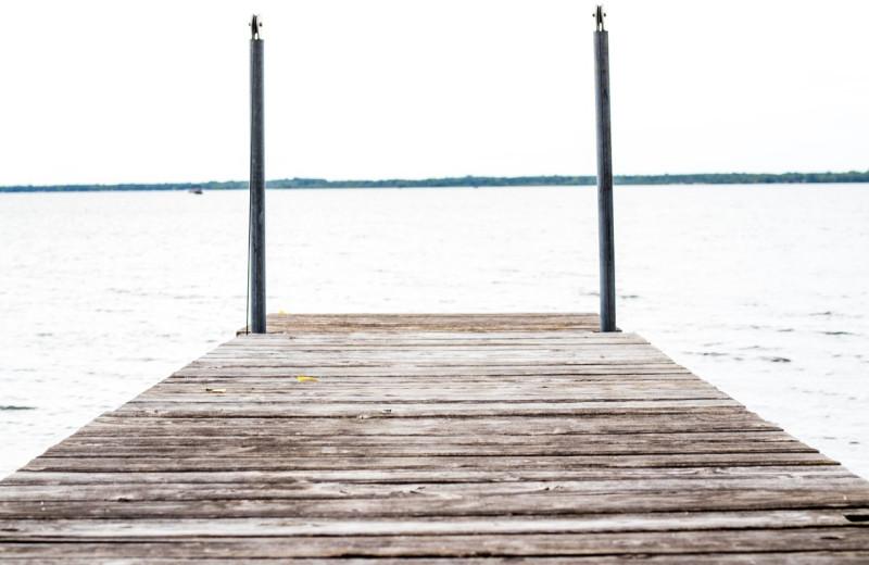 Dock view at Holly's Resort.