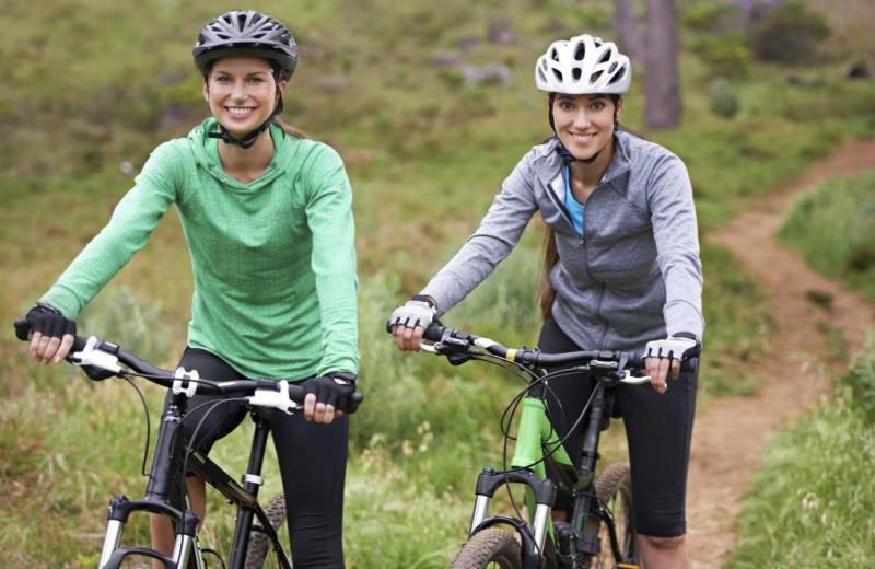 Biking at Bighorn Meadows Resort.