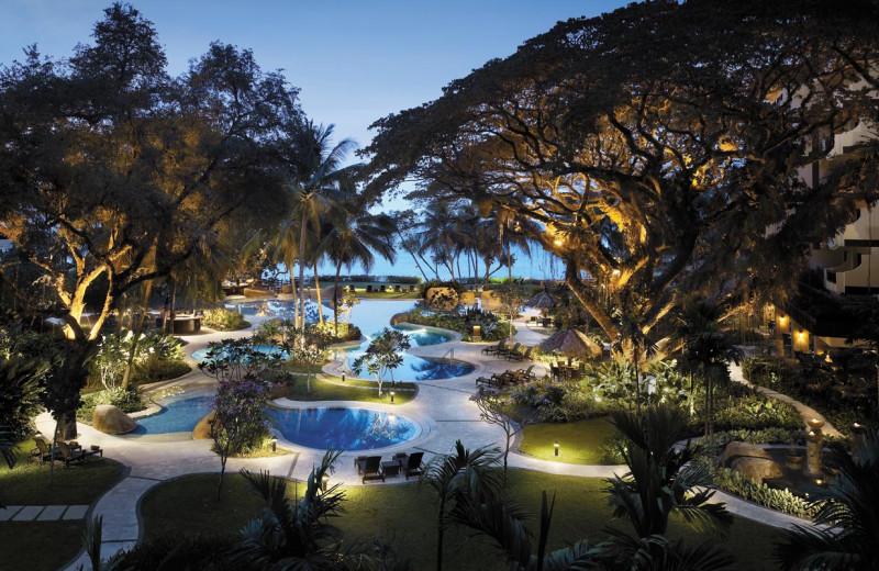 Outdoor pool at Shangri-La Hotel-Penang.