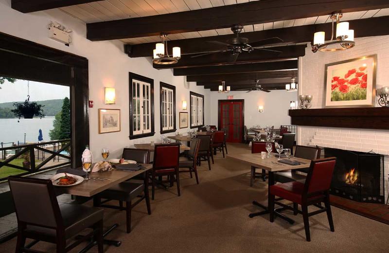 Dining at Sir Sam's Inn & Spa.