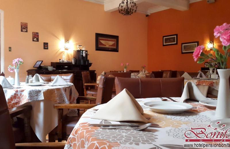 Dining at Hotel Pension Bonifaz.