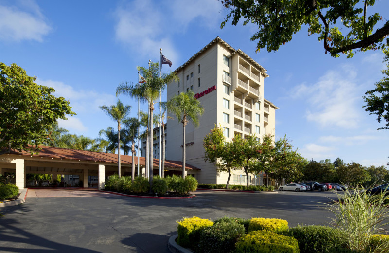 Exterior view of Sheraton San Jose Hotel.