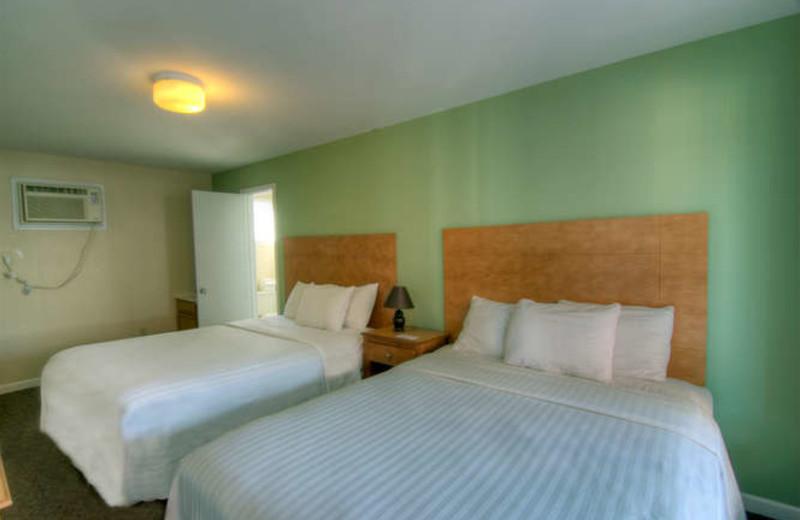 Guest room at Surfside Lodge Oceanfront.