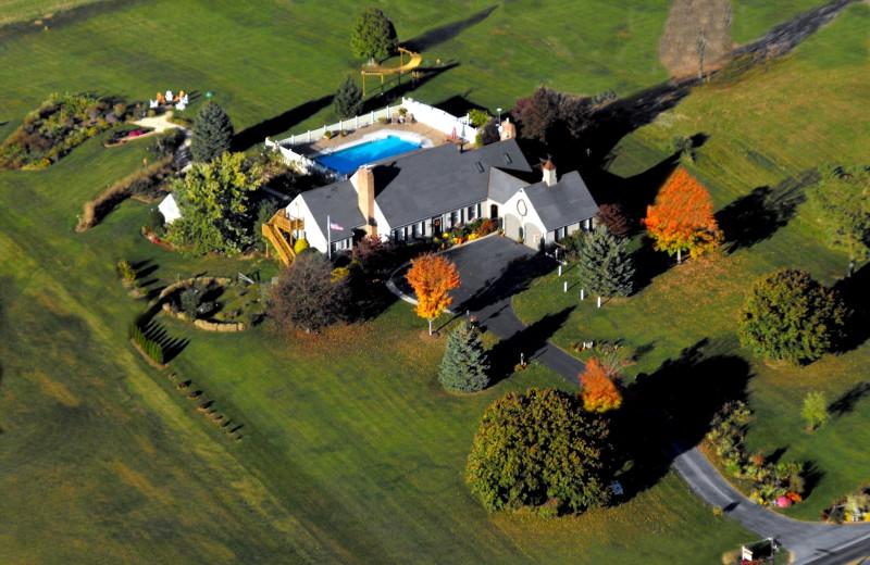 Aerial view of Annville Inn.