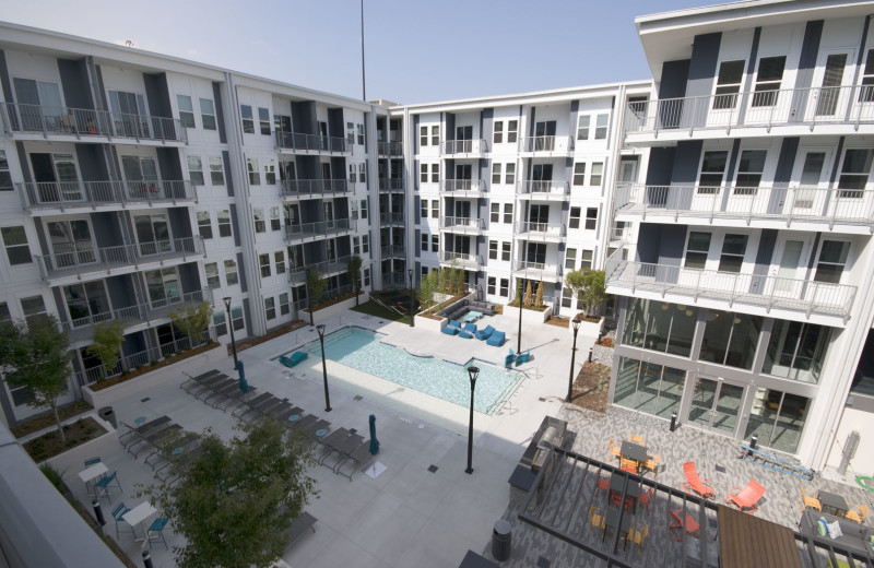 Exterior view of BCA Furnished Apartments.