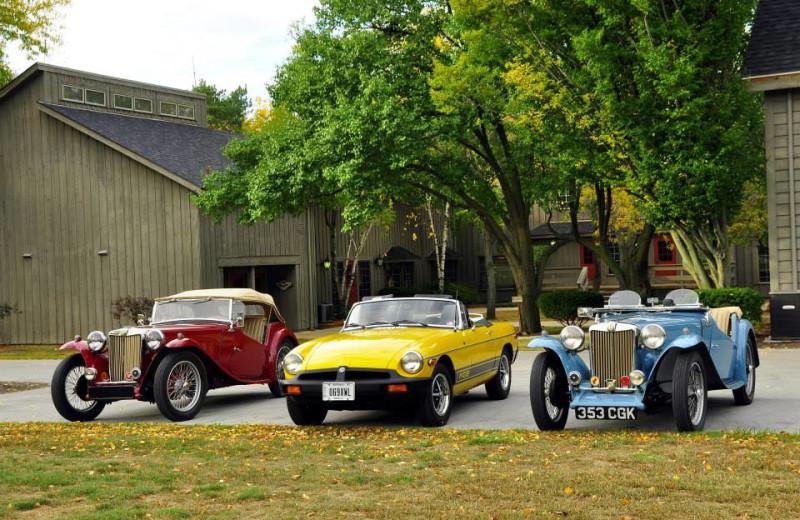 Old fashion cars at Sawmill Creek Resort.