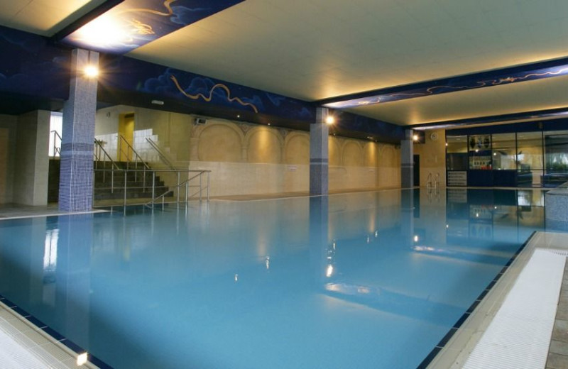 Indoor pool at Abbey Hotel.