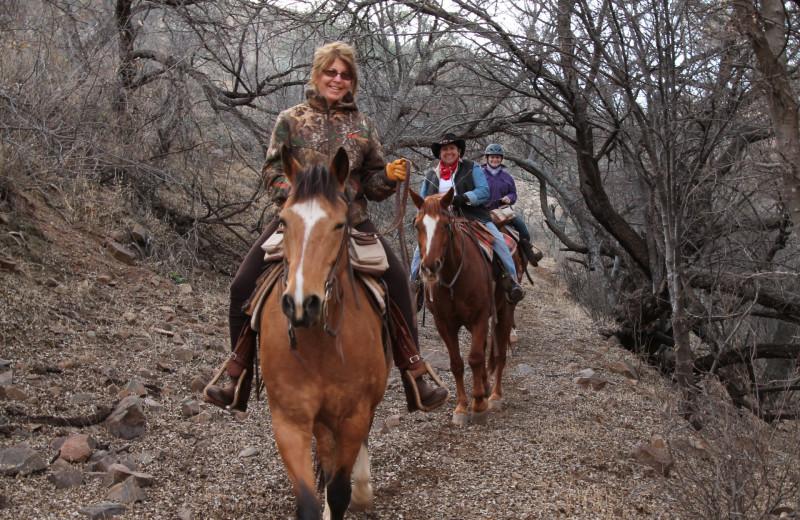 Horseback riding at Circle Z Ranch.