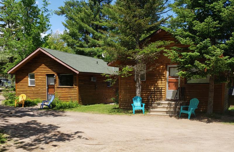 Cabin exterior at Sejour Kouchibouguac Resort.