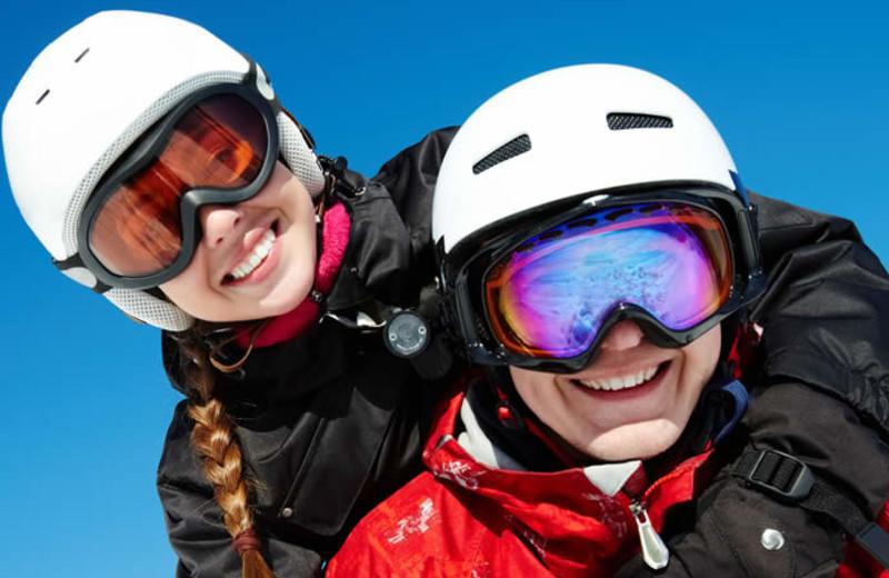 Skiers at Solaris Residences.