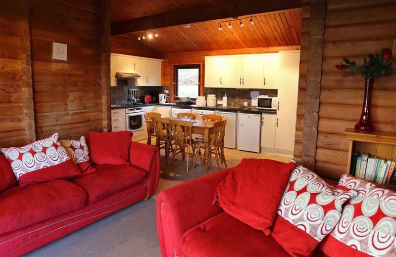 Rental kitchen at Clan Donald Lodges.
