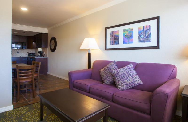 Guest room at London Bridge Resort.
