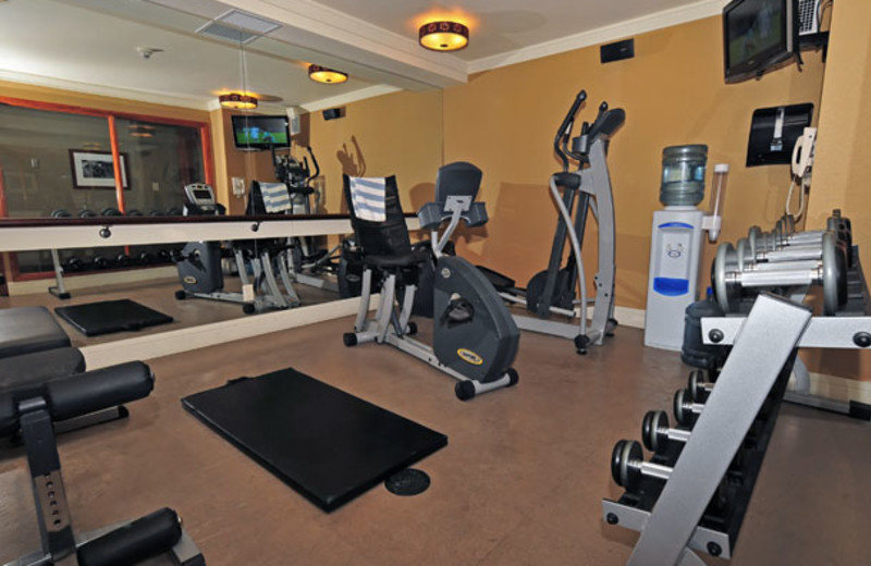 Fitness center at The Fox Hotel.